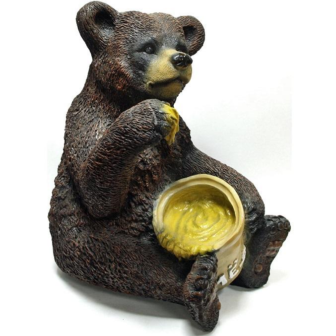 """Садовая фигура """"Медведь с медом"""""""