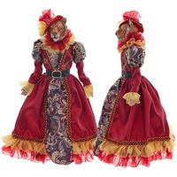 """Кукла каркасная """"Тигрица в красном платье"""""""
