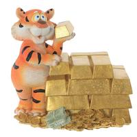 """Копилка """"Тигр с золотыми слитками"""""""