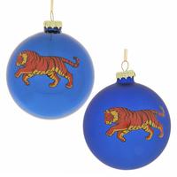 """Ёлочная игрушка шар """"Тигр"""" синий"""