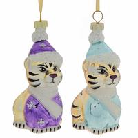 """Ёлочная игрушка """"Белый тигр"""", 2 вида"""