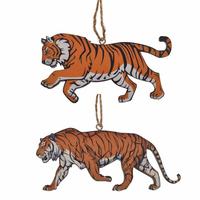 """Деревянная ёлочная игрушка """"Тигр"""""""