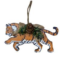 """Ёлочное украшение """"Тигр с шишкой"""""""
