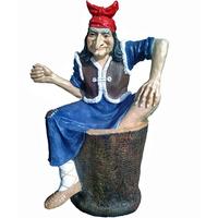 """Садовая фигура """"Баба Яга на ступе"""""""