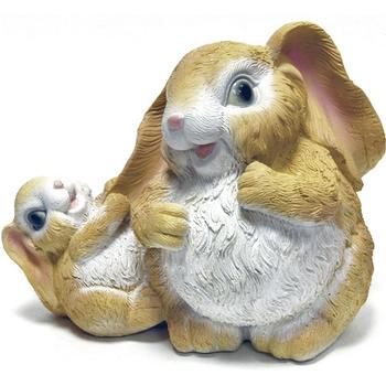"""Садовая фигура """"Заяц с зайчонком"""""""