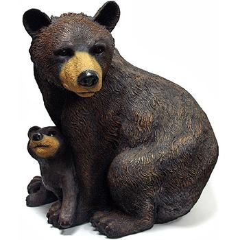 """Садовая фигура """"Медведь с медвежонком"""""""