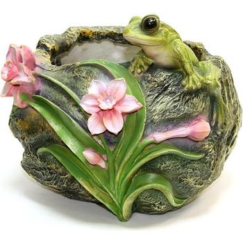 """Кашпо садовое """"Камень с лягушкой"""""""