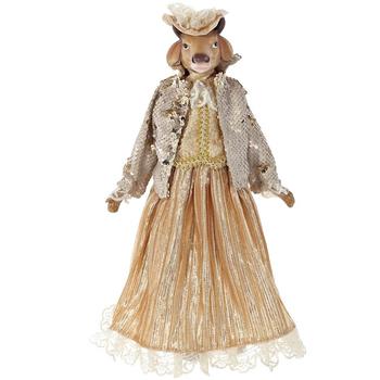 """Кукла """"Корова в золотом платье"""""""