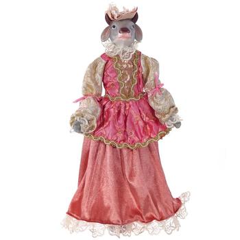 """Кукла новогодняя """"Корова в розовом платье"""""""