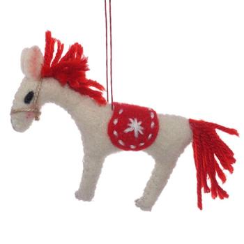 "Мягкая игрушка на ёлку ""Лошадка"""