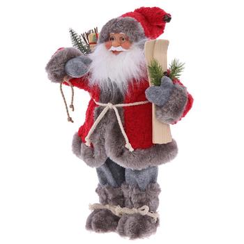 Дед Мороз с лыжами и мешком