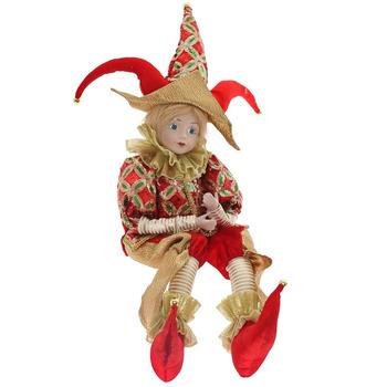 Клоун в красном костюме, 70 см