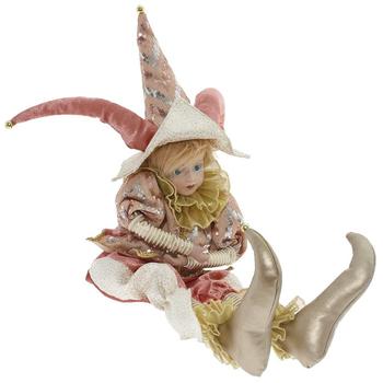 Клоун в розовом костюме, 70 см
