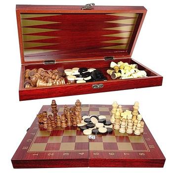 """Игра настольная """"Три в одном"""" (шахматы, шашки, нарды)"""