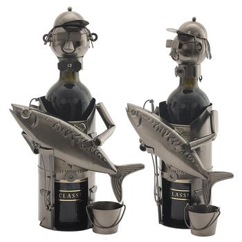 """Подставка для бутылки """"Рыбак с рыбкой"""""""
