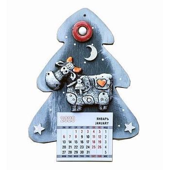 """Магнит с отрывным календарём """"Корова"""""""
