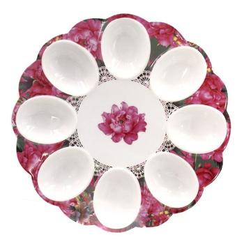 "Тарелка для пасхальных яиц ""Роза"""