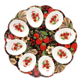 """Тарелка для пасхальных яиц """"Клубника"""""""