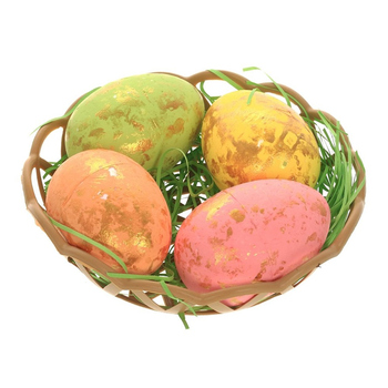 Пасхальные яйца в корзинке (набор из 4-х штук)