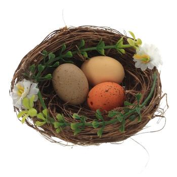 """Украшение """"Гнездо с пасхальными яйцами"""""""