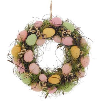 Венок с пасхальными яйцами