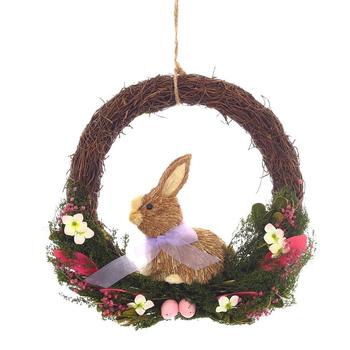Пасхальный венок с кроликом