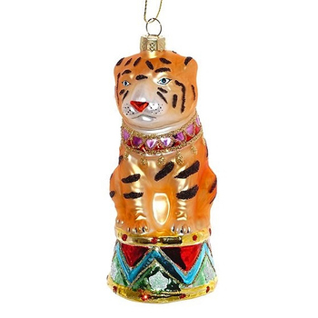 "Ёлочная игрушка ""Тигр на барабане"""