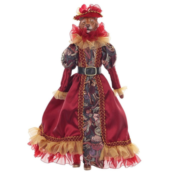 Тигрица в красном платье