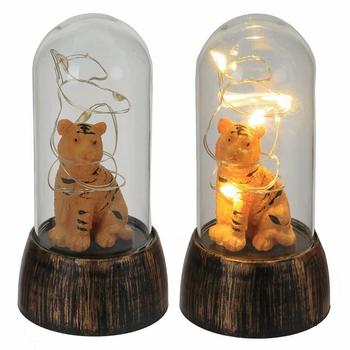 """Сувенир с подсветкой """"Тигр в стеклянной колбе"""""""