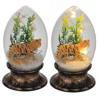 """Сувенир """"Тигр в стеклянном шаре"""" с подсветкой"""