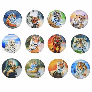 """Магнит стеклянный """"Тигр"""", 12 видов"""