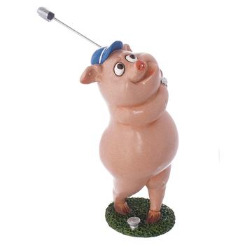Фигурка Свинья гольфист