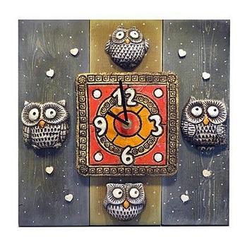 Настенные часы Совушки