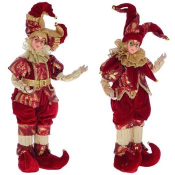 "Кукла ""Клоун в тёмно-красном костюме"", 2 вида"