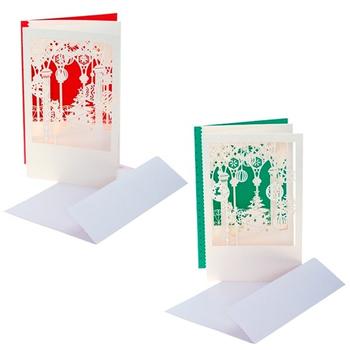 Открытка новогодняя в конверте, 2 вида