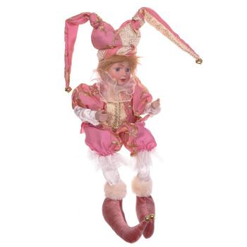 """Кукла """"Клоун в розовом костюме"""""""