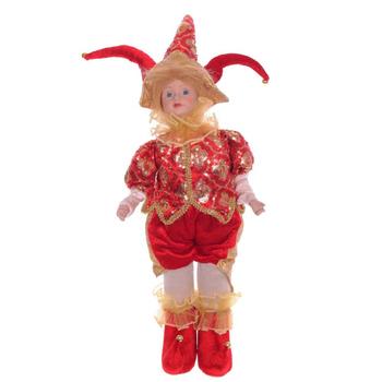 Клоун в красном костюме, 45 см
