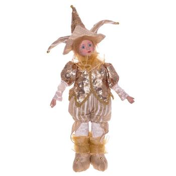 Клоун в золотистом костюме, 45 см