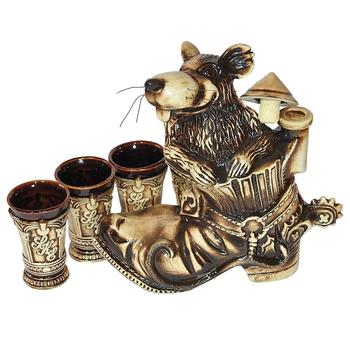 "Подарочный питейный набор ""Крыса в ботинке"" шамот"