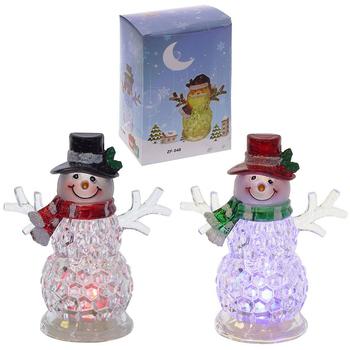 """Фигурка с подсветкой """"Снеговик"""" в подарочной коробке"""