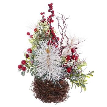 """Новогоднее украшение """"Икебана с ягодами"""""""
