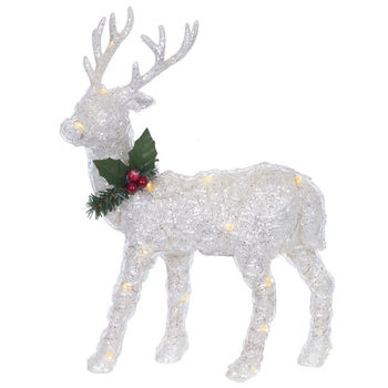 """Новогоднее украшение с подсветкой """"Олень"""", 32 см"""