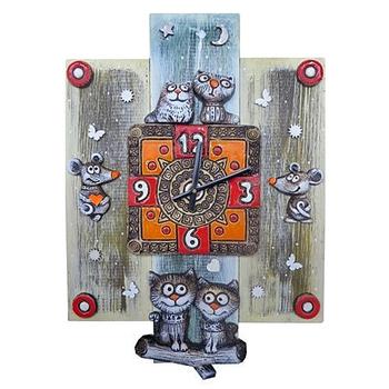 """Настенные часы """"Кошки-мышки"""""""