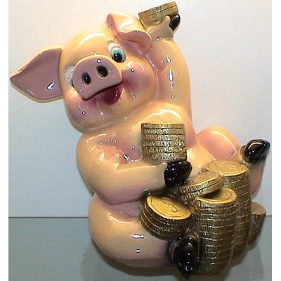 """Копилка """"Свинья с долларами"""""""