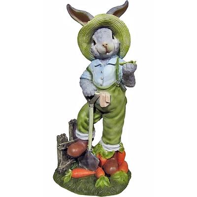 """Садовая фигура """"Заяц с лопатой"""""""