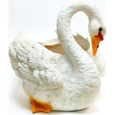 """Кашпо садовое """"Лебедь"""" белый"""