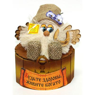 "Сувенир ""Домовой Антошка в на сундуке"""