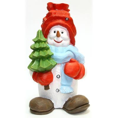 """Садовая фигура """"Снеговик с елкой"""""""