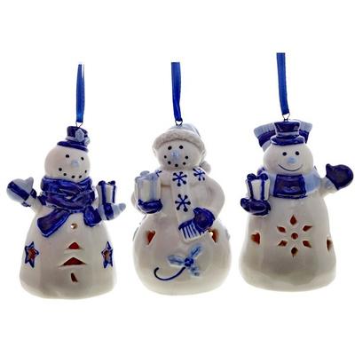 Ёлочное украшение с подсветкой Снеговик