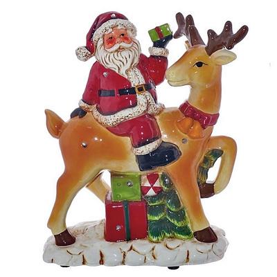 Фигурка музыкальная с подсветкой Дед Мороз